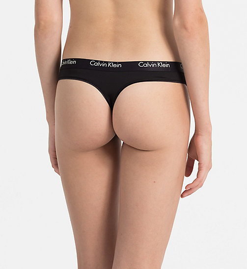 CALVINKLEIN Thong - CK One - BLACK - CALVIN KLEIN THONGS - detail image 1