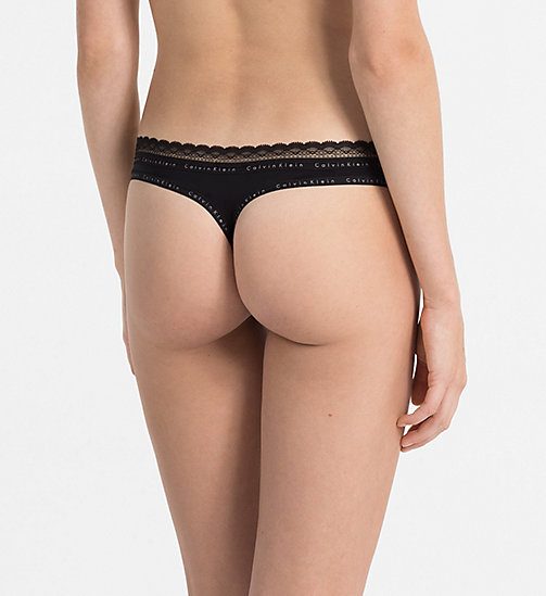 CALVINKLEIN String - Signature - BLACK - CALVIN KLEIN STRINGS - main image 1