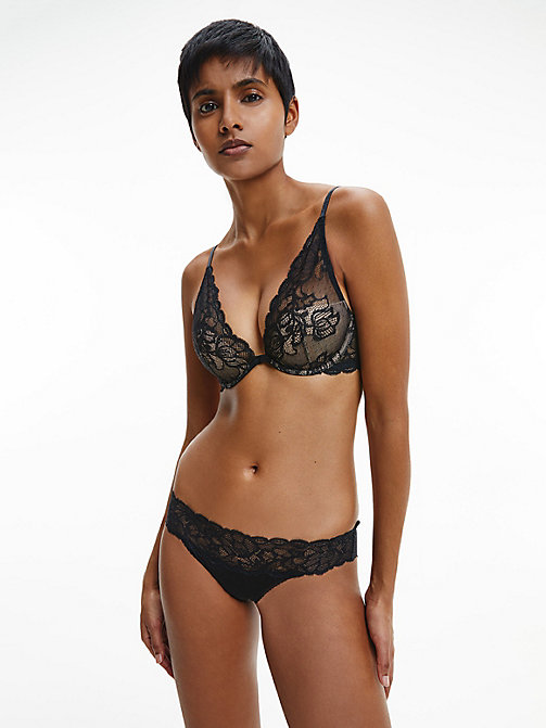 CALVINKLEIN Plunge-BH - Seductive Comfort - BLACK - CALVIN KLEIN SHOP BY SET - main image 1