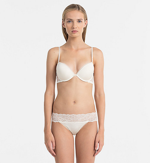 CALVINKLEIN Add-a-Cup Push-Up Bra - Seductive Comfort - IVORY - CALVIN KLEIN PUSH-UP BRAS - detail image 1