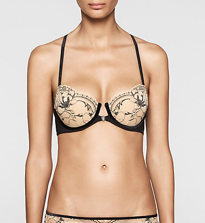 CALVIN KLEIN Balconette Push Up Bra - CK Black Embrace 000QF1620ENU5