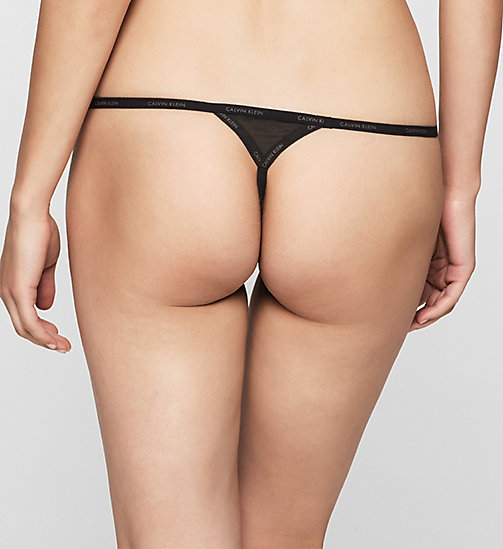 CALVINKLEIN Thong - Sheer Marquisette - BLACK - CALVIN KLEIN Up to 50% - detail image 1