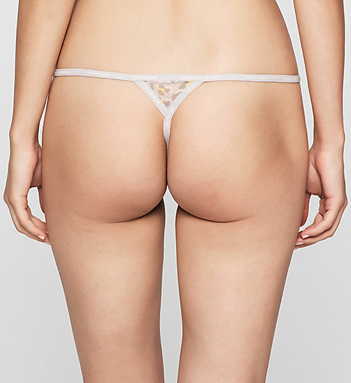 CALVINKLEIN Thong - Sheer Marquisette - DYNAMICAL LEOPARD - CALVIN KLEIN Up to 50% - detail image 1