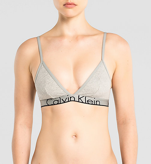 CALVINKLEIN Triangle Bra - Calvin Klein ID - GREY HEATHER - CALVIN KLEIN SHOP BY SET - main image