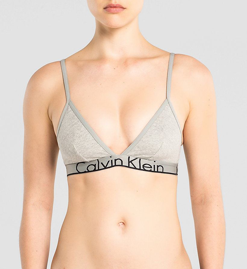 CALVINKLEIN Triangle Bra - Calvin Klein ID - GREY HEATHER - CALVIN KLEIN WOMEN - main image