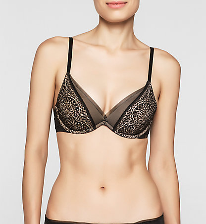 CALVIN KLEIN Push-Up Bra - CK Black Endless 000QF1783E001