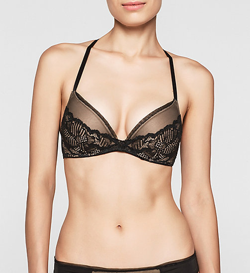 CALVINKLEIN Push-up-BH - Linger - BLACK - CALVIN KLEIN  - main image