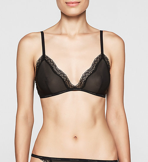 CALVINKLEIN Triangle Bra - Sheer Marq - BLACK - CALVIN KLEIN WOMEN - main image
