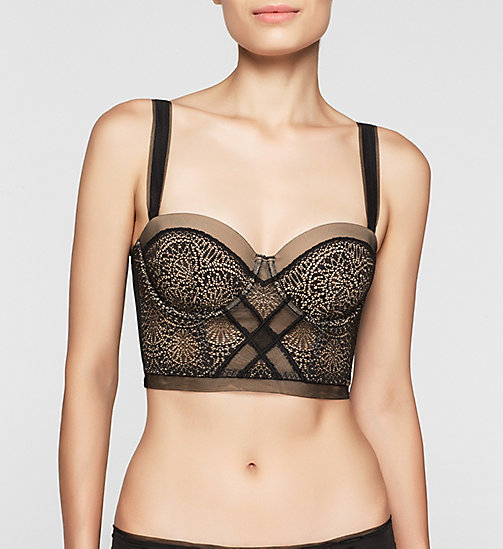 CALVINKLEIN Longline Bra - CK Black Endless - BLACK - CALVIN KLEIN SHOP BY SET - main image
