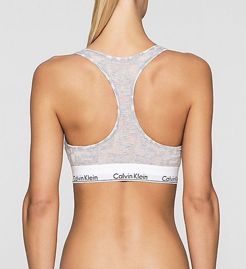 CALVINKLEIN Bustier - Modern Cotton - LATTICE CALVIN LOGO_HEATHER B - CALVIN KLEIN  - main image 1