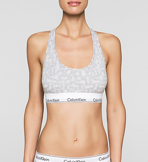 CALVINKLEIN Bustier - Modern Cotton - LATTICE CALVIN LOGO_HEATHER B - CALVIN KLEIN  - main image