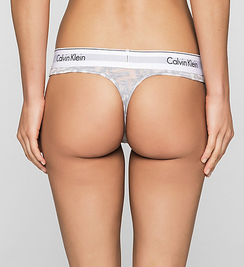 CALVINKLEIN String - Modern Cotton - LATTICE CALVIN LOGO_HEATHER B - CALVIN KLEIN  - detail image 1