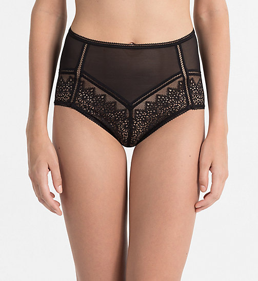 CALVINKLEIN High Waist Hipsters - CK Black Enamored - BLACK - CALVIN KLEIN HIPSTER PANTIES - main image