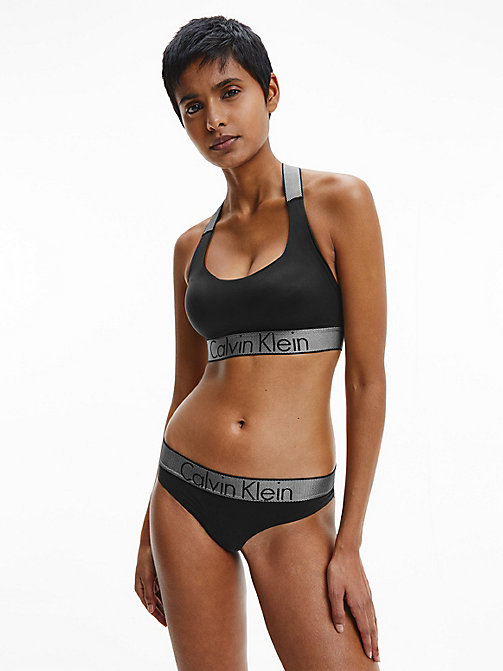 CALVINKLEIN String - Customized Stretch - BLACK - CALVIN KLEIN SOUS-VÊTEMENTS - image détaillée 1