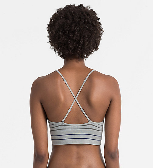 CALVINKLEIN Longline-Bustier - Seamless - SIMPLE STRIPE_GREY HEATHER - CALVIN KLEIN NEU EINGETROFFEN - main image 1