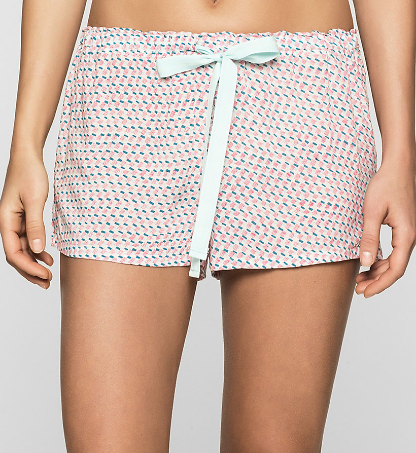 CALVINKLEIN PJ Shorts - LAYERED RECTANGLES - CALVIN KLEIN WOMEN - main image