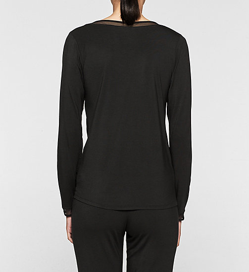 CALVINKLEIN PJ Top - Naked Touch - BLACK - CALVIN KLEIN NIGHTWEAR & LOUNGEWEAR - detail image 1