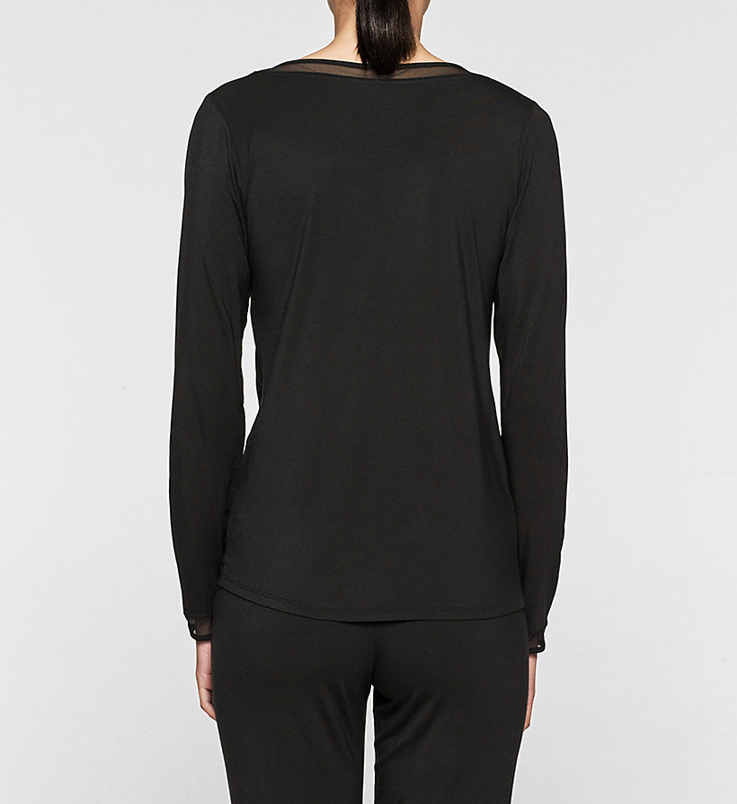 CALVINKLEIN PJ Top - Naked Touch - BLACK - CALVIN KLEIN CLOTHING - detail image 1