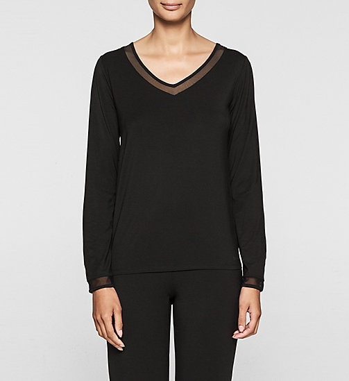 CALVINKLEIN PJ Top - Naked Touch - BLACK - CALVIN KLEIN WOMEN - main image
