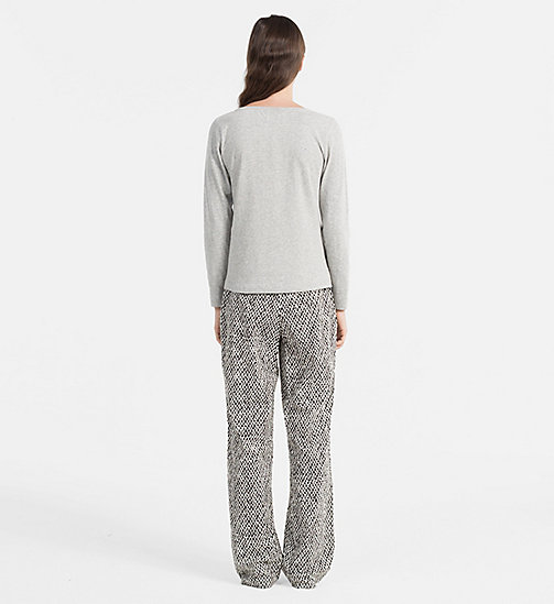 CALVINKLEIN PJ-set - GREY HEATHER TOP/PAINTED GEO PANT - CALVIN KLEIN LOUNGEWEAR - detail image 1