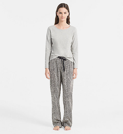 CALVINKLEIN PJ-set - GREY HEATHER TOP/PAINTED GEO PANT - CALVIN KLEIN LOUNGEWEAR - main image