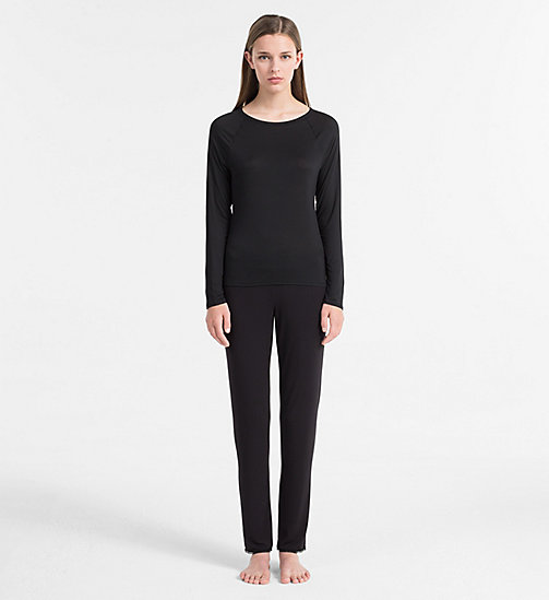 CALVINKLEIN Top - Cotton Luxe - BLACK - CALVIN KLEIN LONG SLEEVE T-SHIRTS - detail image 1