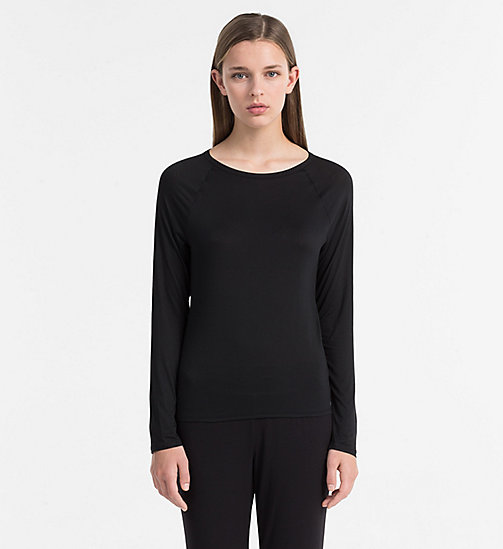 CALVINKLEIN Top - Cotton Luxe - BLACK - CALVIN KLEIN LONG SLEEVE T-SHIRTS - main image