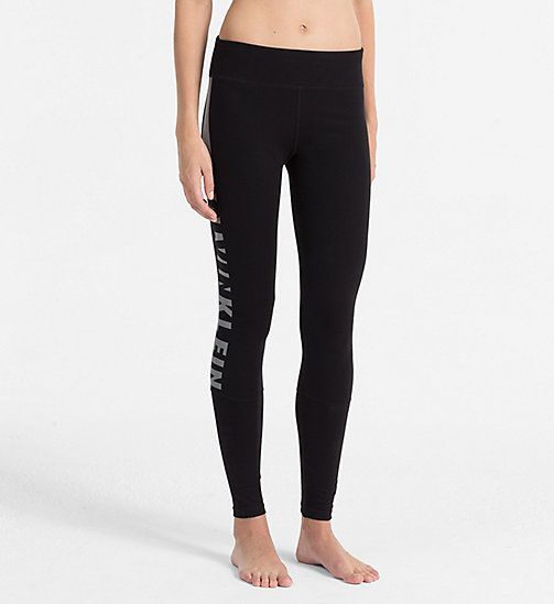 CALVINKLEIN Leggings - Seamless - BLACK (SOOTHING GREY LOGO) - CALVIN KLEIN TROUSERS - main image