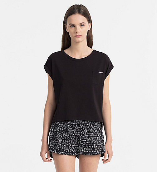 CALVINKLEIN PJ Top - Shift - BLACK - CALVIN KLEIN NEW ARRIVALS - main image