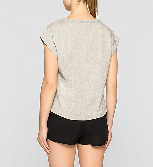 CALVINKLEIN PJ Top - Shift - GREY HEATHER - CALVIN KLEIN NIGHTWEAR & LOUNGEWEAR - detail image 1