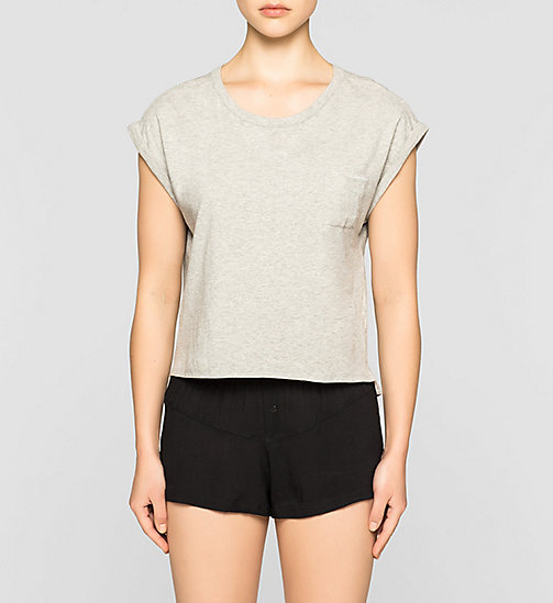 CALVINKLEIN PJ Top - Shift - GREY HEATHER - CALVIN KLEIN NIGHTWEAR & LOUNGEWEAR - main image
