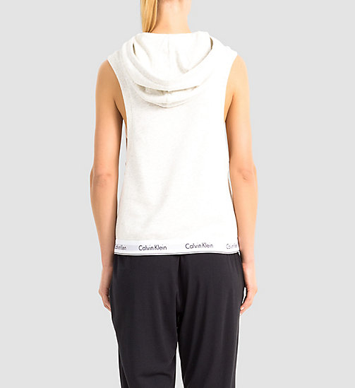 CALVINKLEIN Sleeveless Hoodie - Modern Cotton - SNOW HEATHER - CALVIN KLEIN NIGHTWEAR & LOUNGEWEAR - detail image 1