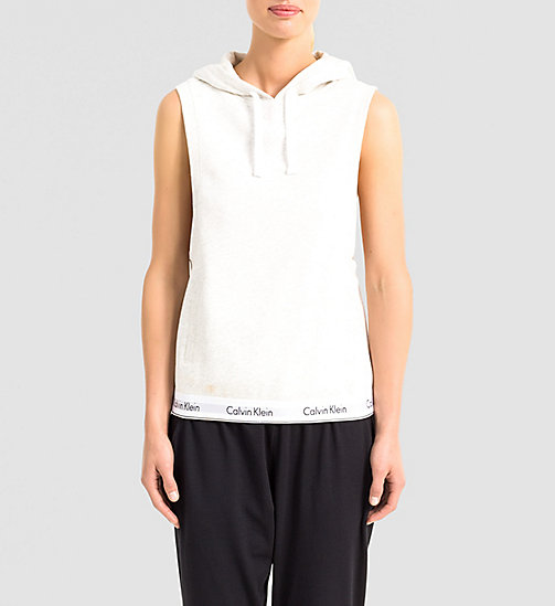 CALVINKLEIN Sleeveless Hoodie - Modern Cotton - SNOW HEATHER - CALVIN KLEIN NIGHTWEAR & LOUNGEWEAR - main image