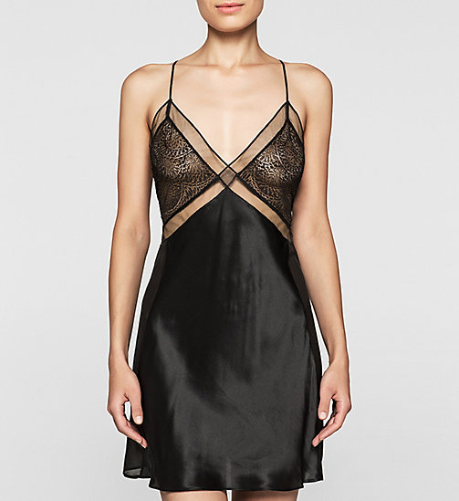CALVINKLEIN Silk Chemise - CK Black Endless - BLACK - CALVIN KLEIN NIGHTDRESSES - main image