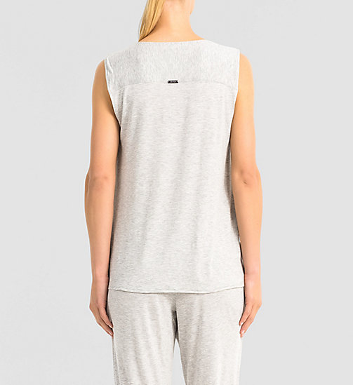 CALVINKLEIN Top - Release - GREY HEATHER - CALVIN KLEIN  - detail image 1