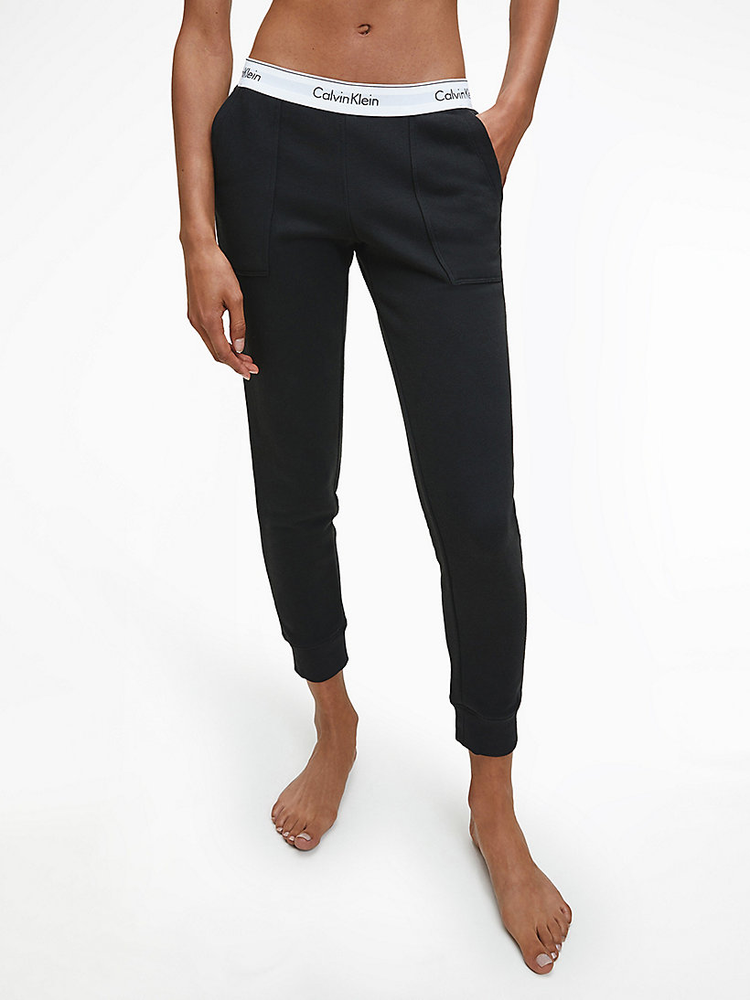 CALVINKLEIN Sweatpants - Modern Cotton - BLACK - CALVIN KLEIN WOMEN - main image