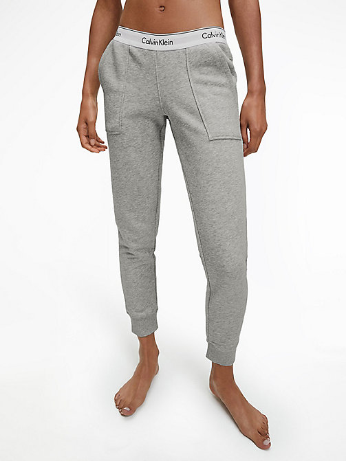 CALVINKLEIN Pantalon de jogging - Modern Cotton - GREY HEATHER - CALVIN KLEIN  - image principale