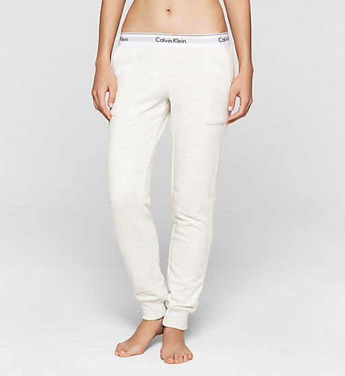 CALVINKLEIN Pantalon de jogging - Modern Cotton - SNOW HEATHER - CALVIN KLEIN  - image principale