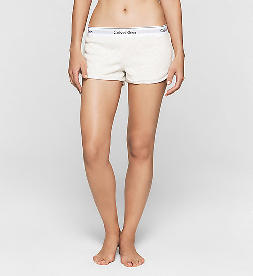 CALVINKLEIN Shorts - Modern Cotton - SNOW HEATHER - CALVIN KLEIN SHORTS - main image