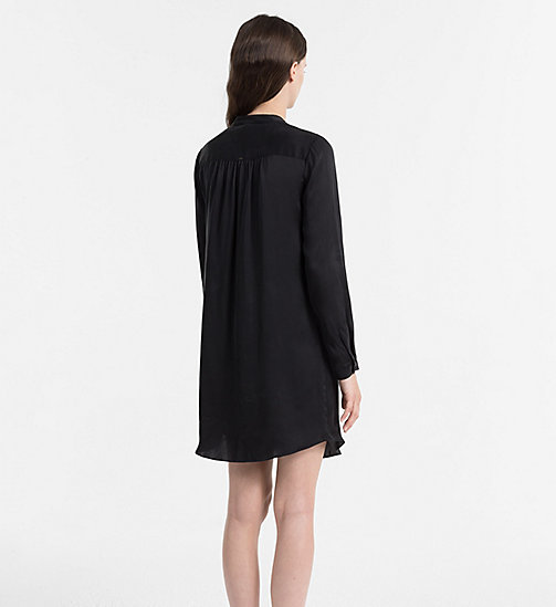 CALVINKLEIN Silk Nightshirt - CK Black Excite - BLACK - CALVIN KLEIN NIGHTDRESSES - detail image 1