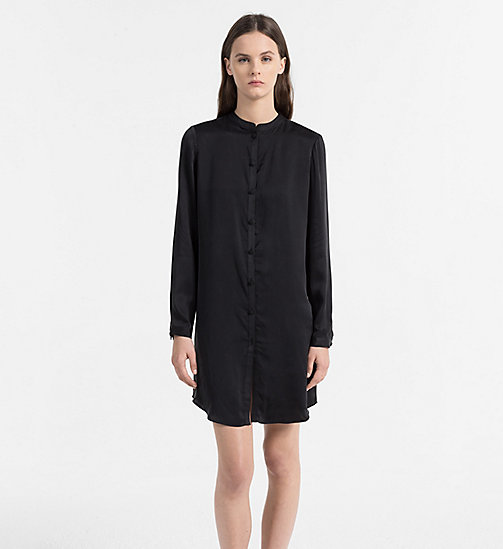CALVINKLEIN Silk Nightshirt - CK Black Excite - BLACK - CALVIN KLEIN NIGHTDRESSES - main image