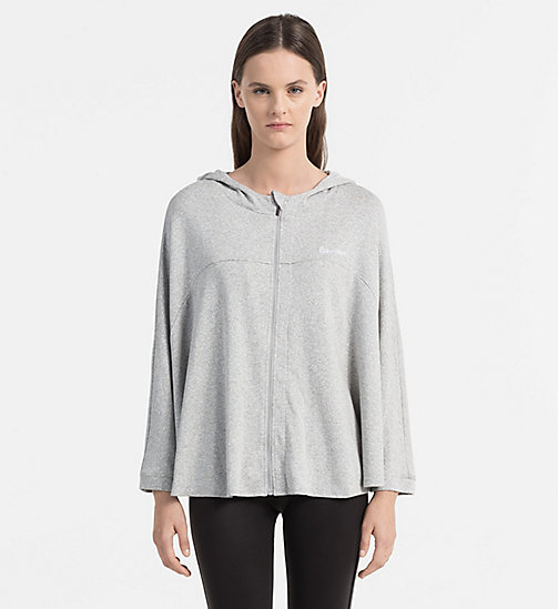 CALVINKLEIN Hoodie - GREY HEATHER - CALVIN KLEIN PYJAMA TOPS - main image