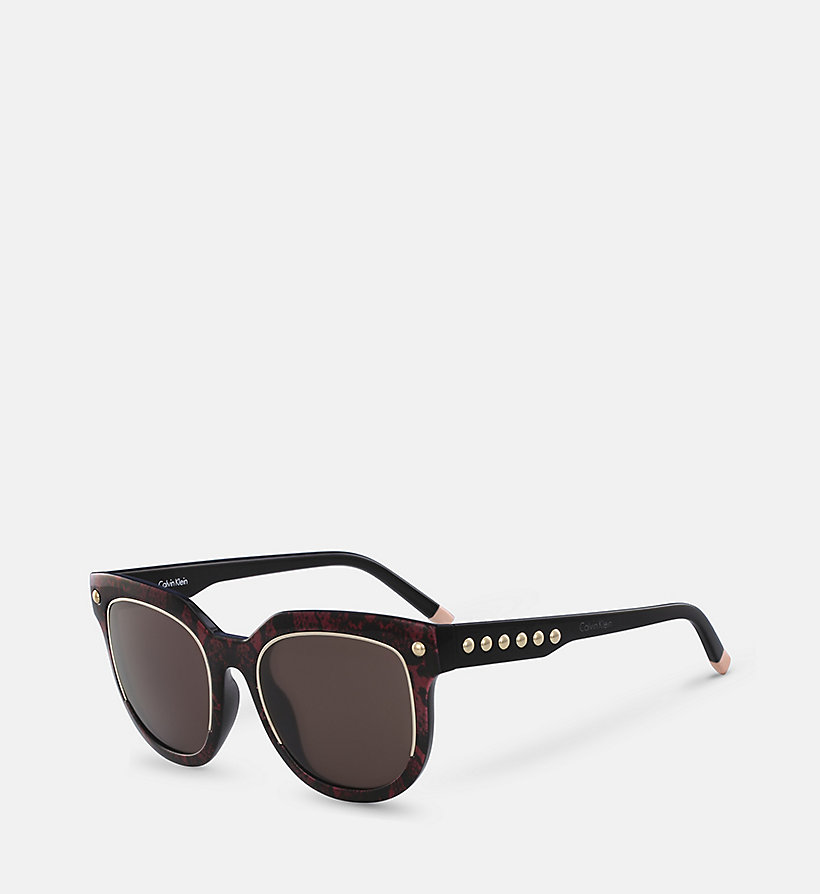 CALVINKLEIN Rectangle Sunglasses CK3202SS - RED SNAKE - CALVIN KLEIN SHOES & ACCESSORIES - detail image 1
