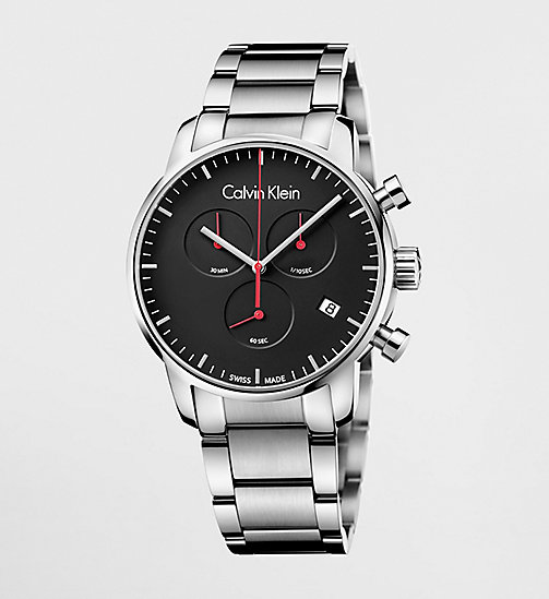 CALVINKLEIN CITY - BLACK/STAINLESS STEEL - CALVIN KLEIN GIFTS FOR HIM - main image