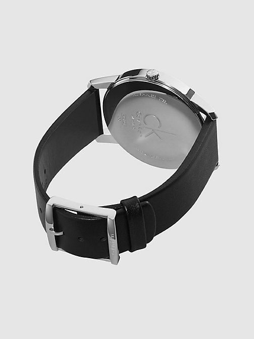 Watch - Calvin Klein City - SST / BLACK / BLACK - CALVIN KLEIN SHOES & ACCESSORIES - detail image 1
