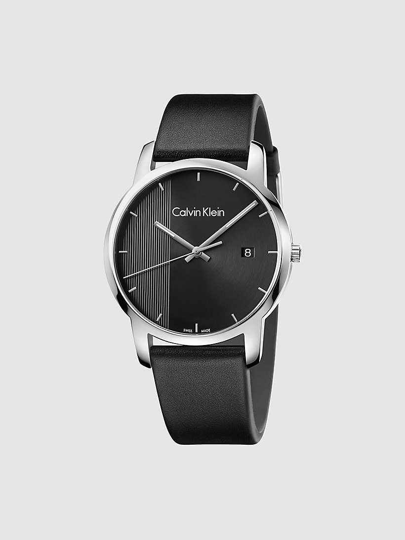 CALVINKLEIN Watch - Calvin Klein City - SST / BLACK / BLACK - CALVIN KLEIN SHOES & ACCESSORIES - main image