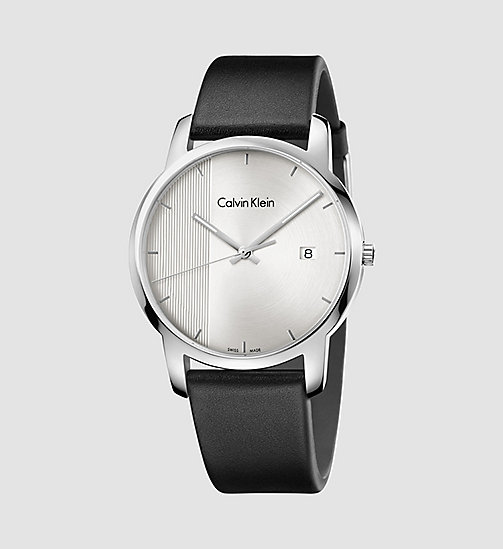 Watch - Calvin Klein City - SST/BLACK/SILVER - CALVIN KLEIN SHOES & ACCESSORIES - main image