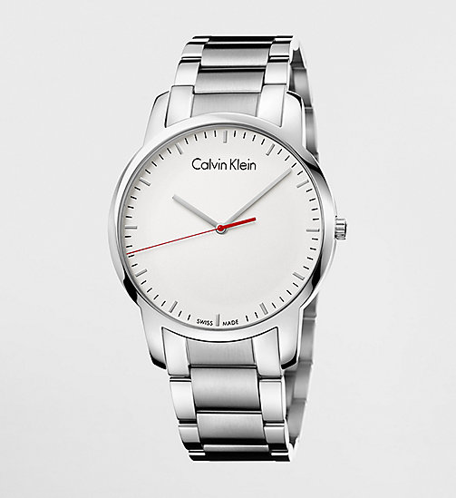 CALVINKLEIN CITY - SILVER / STAINLESS STEEL - CALVIN KLEIN GIFTS FOR HIM - main image