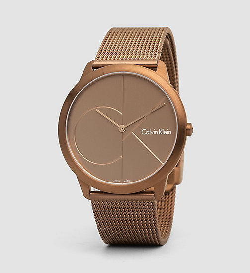 CALVINKLEIN Watch - Calvin Klein Minimal - COFFEE  /  BROWN - CALVIN KLEIN WATCHES - main image
