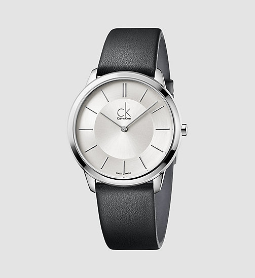 CALVINKLEIN Watch - Calvin Klein Minimal - SILVER / BLACK - CALVIN KLEIN WATCHES & JEWELLERY - main image